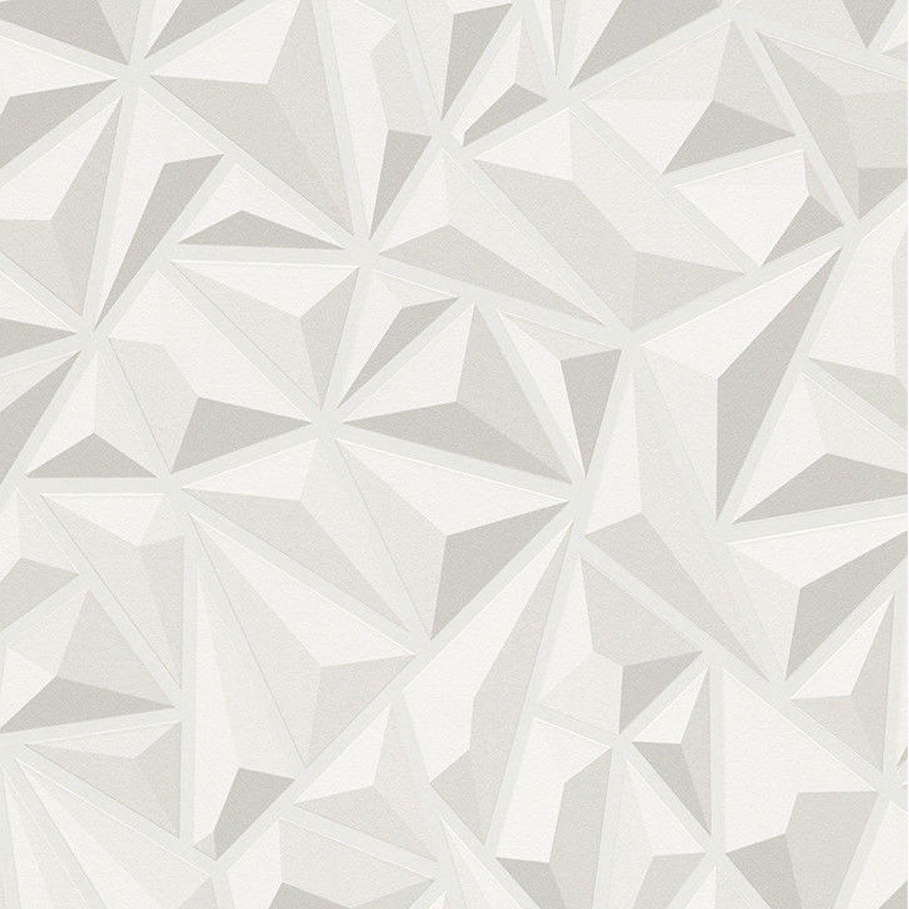 Modern Grey Textured Wallpaper