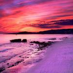 Pink And Purple Sunset Wallpapers Top Free Pink And Purple Sunset Backgrounds Wallpaperaccess