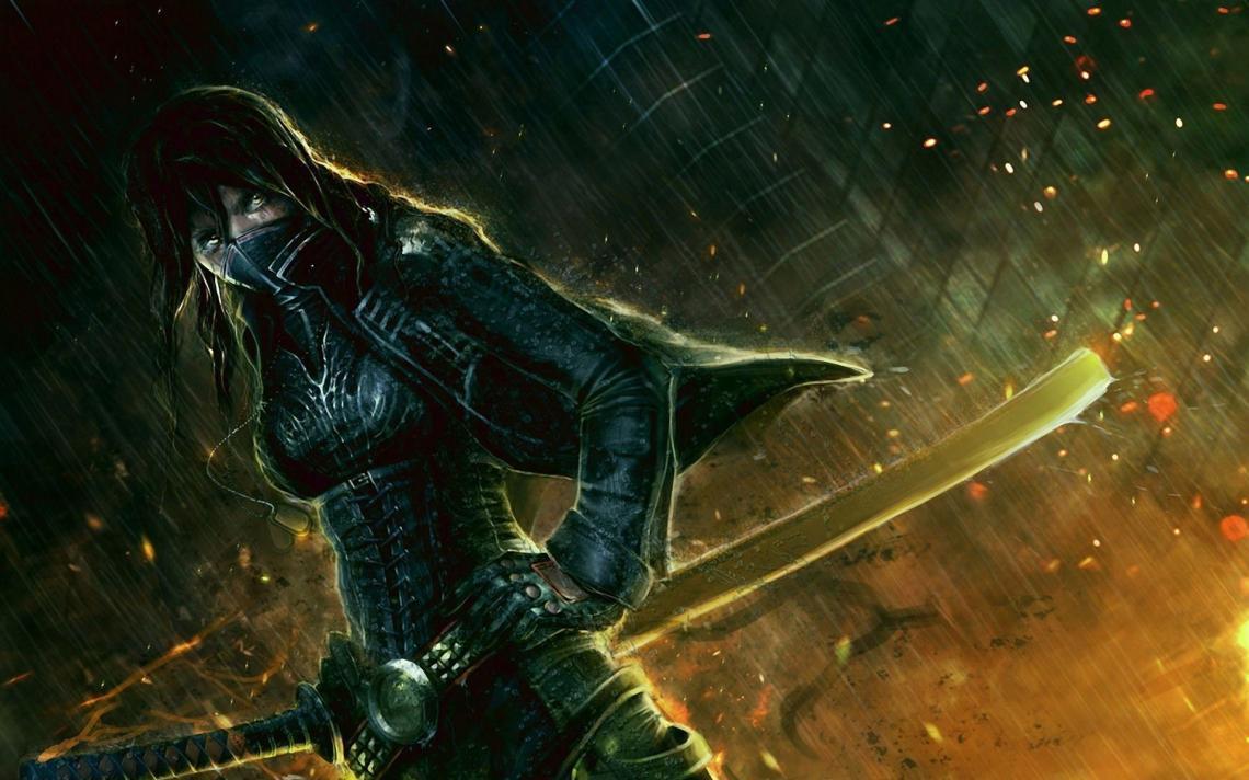 Anime Female Ninja Wallpapers Top Free Anime Female Ninja Backgrounds Wallpaperaccess