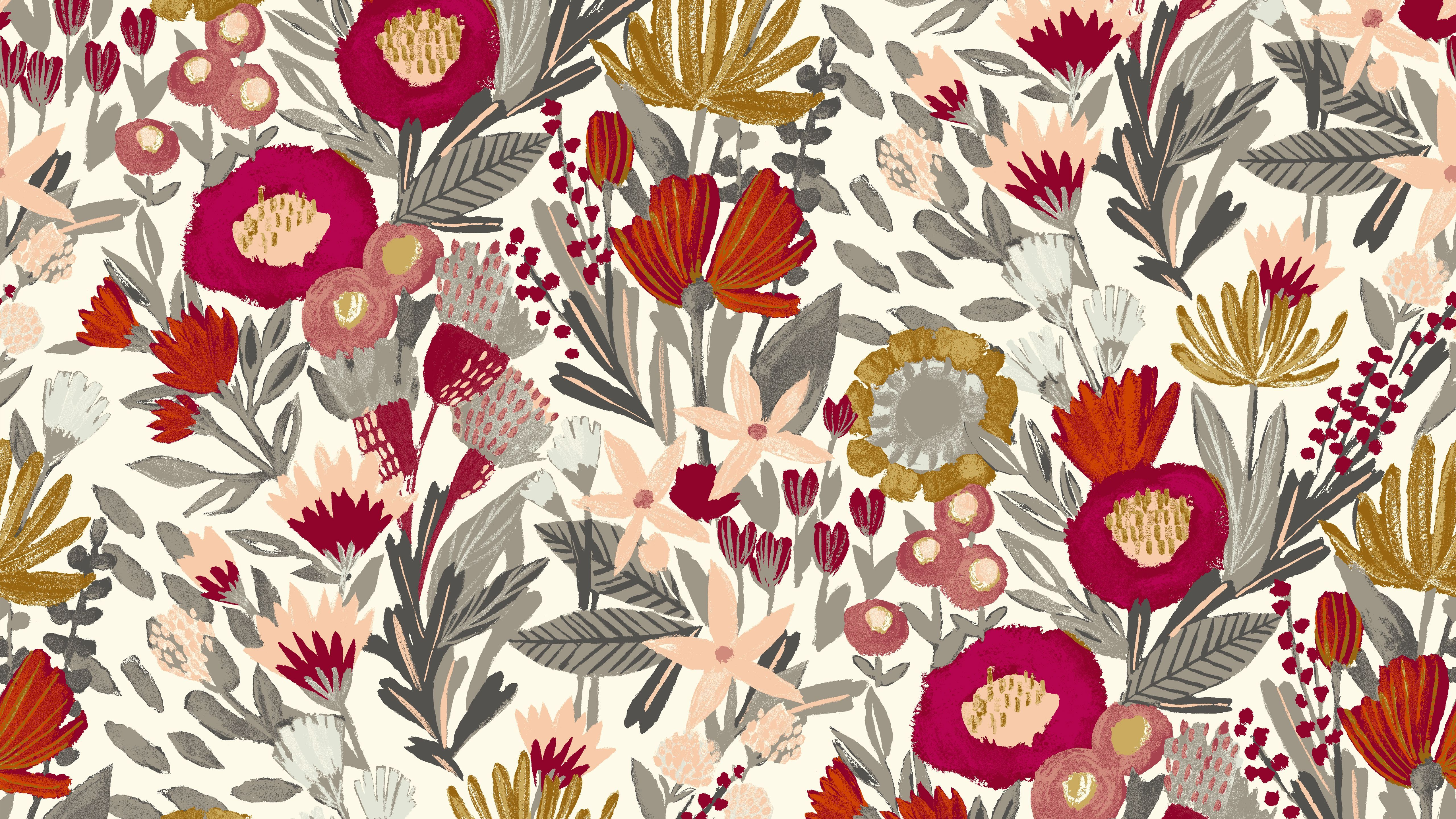 Fall Floral Wallpapers Top Free Fall Floral Backgrounds Wallpaperaccess
