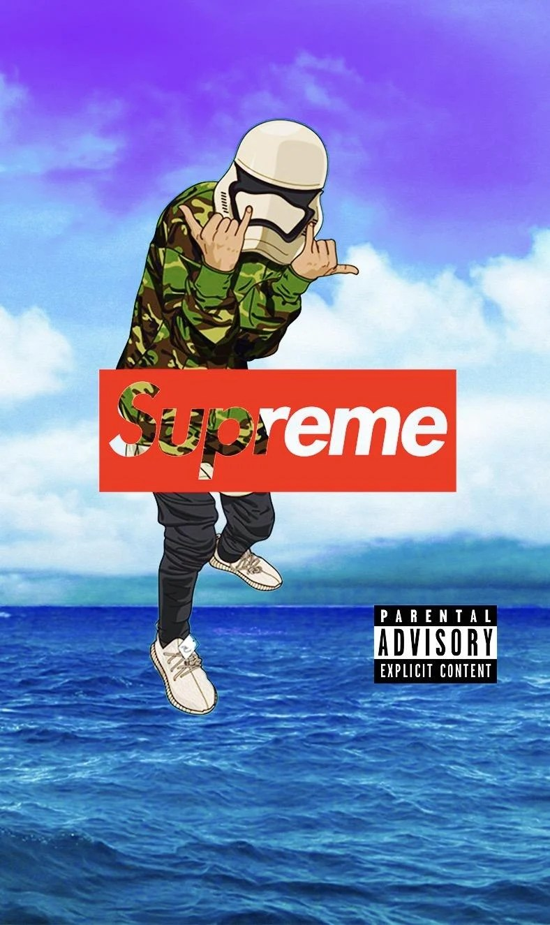 Supreme Cartoon Wallpapers Top Free Supreme Cartoon Backgrounds Wallpaperaccess