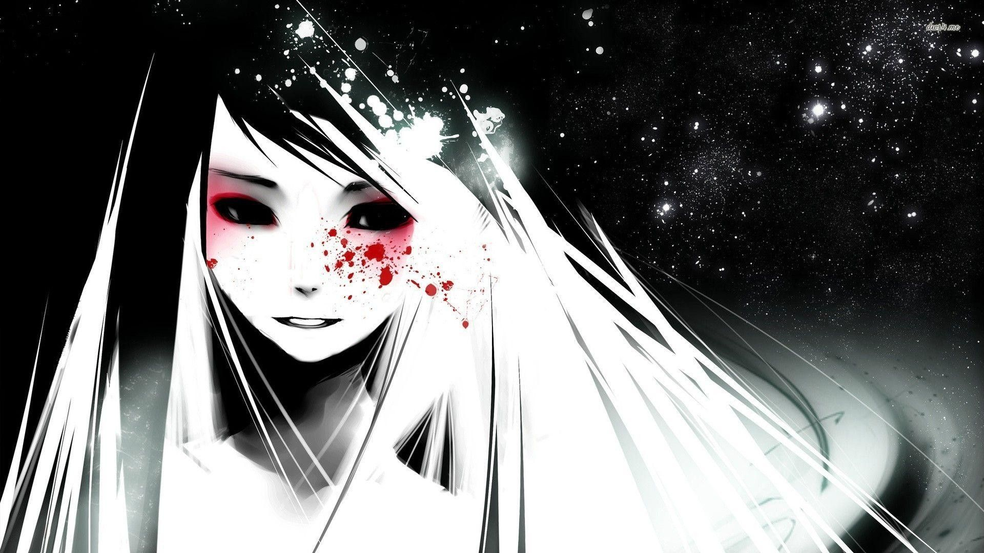 Dark Anime Girl Wallpapers Top Free Dark Anime Girl Backgrounds Wallpaperaccess
