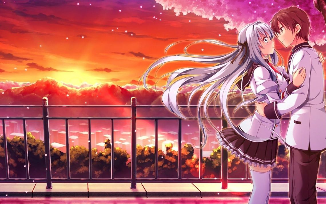 Romantic Anime Wallpapers Top Free Romantic Anime Backgrounds Wallpaperaccess