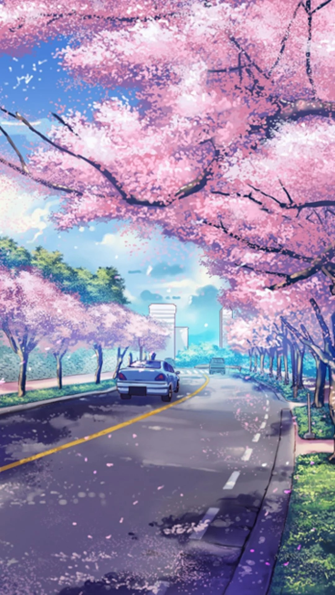 Anime Scenery Iphone Wallpapers Top Free Anime Scenery Iphone Backgrounds Wallpaperaccess