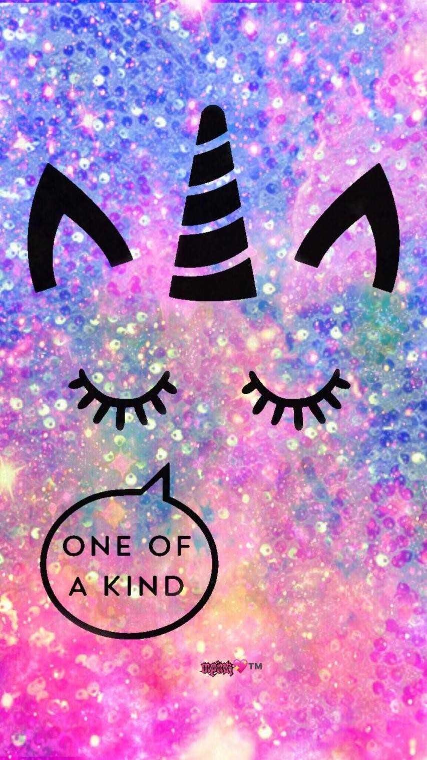 Wallpaper Unicorn Galaxy Glitter Novocom Top