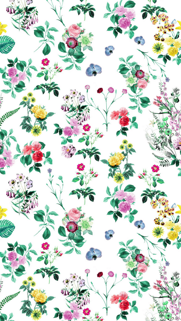 Flower Pattern Iphone Wallpapers Top Free Flower Pattern Iphone Backgrounds Wallpaperaccess