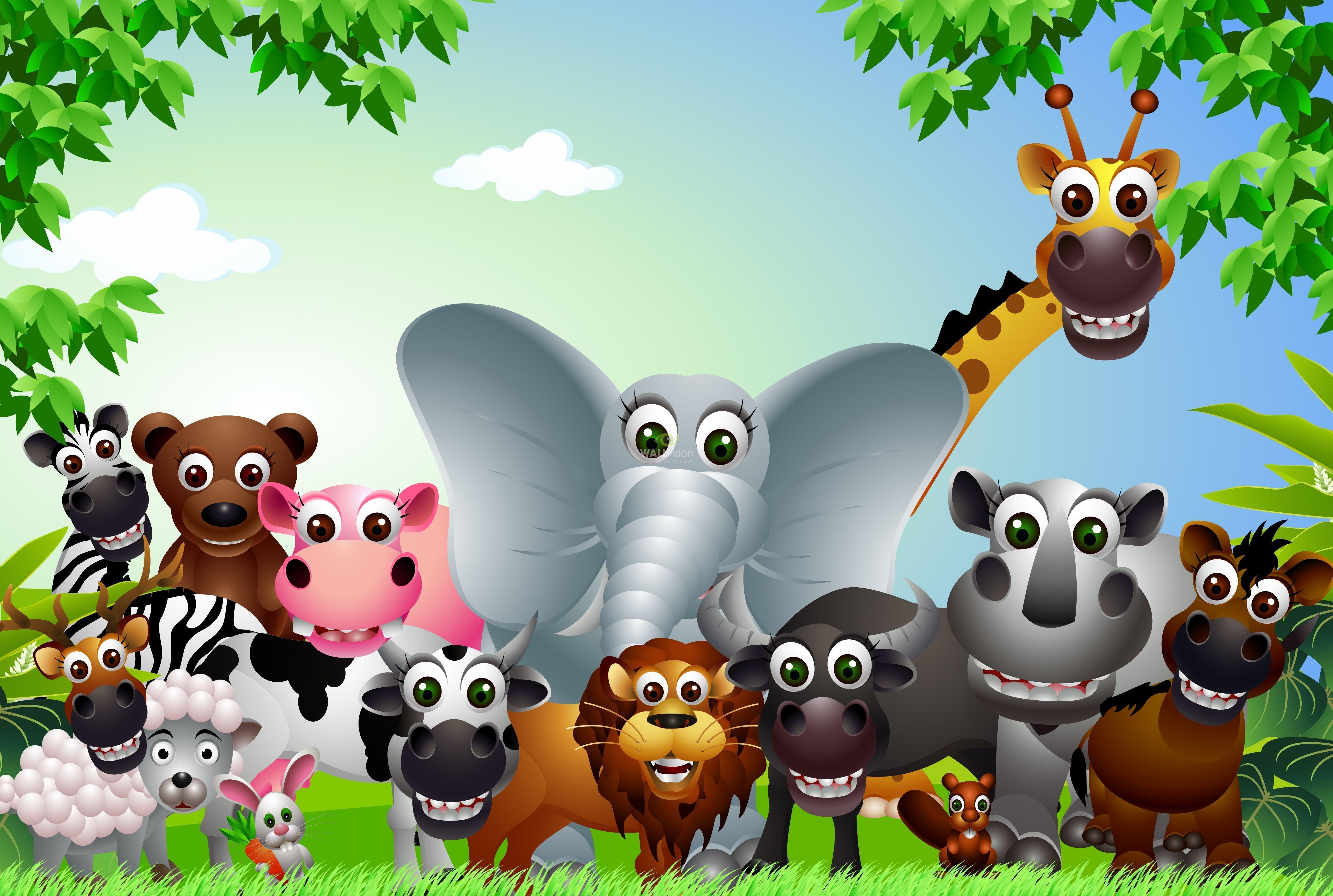 Cartoon Animals Wallpapers Top Free Cartoon Animals Backgrounds Wallpaperaccess