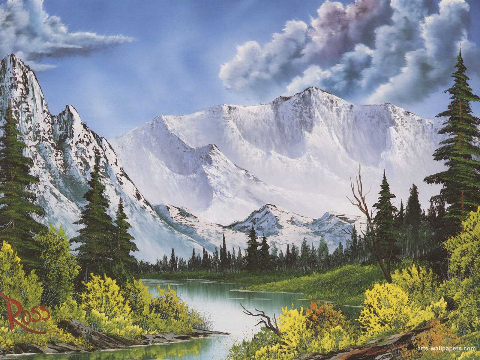 Montagne Facon Bob Ross Mireille Ruffinoni Painters Artists