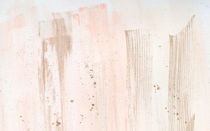 Desktop Wallpaper Watercolour Coral Blush Gold