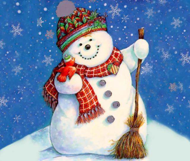 Happy Snowman Free Desktop Background Free Wallpaper Image