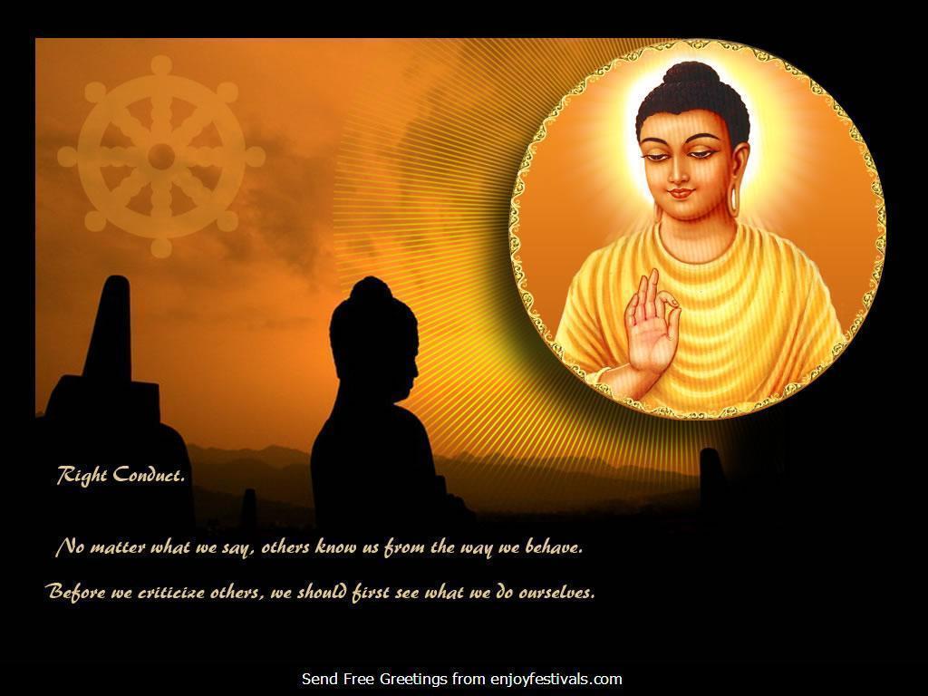 Gautama Buddha Wallpaper With Quotes In Hindi