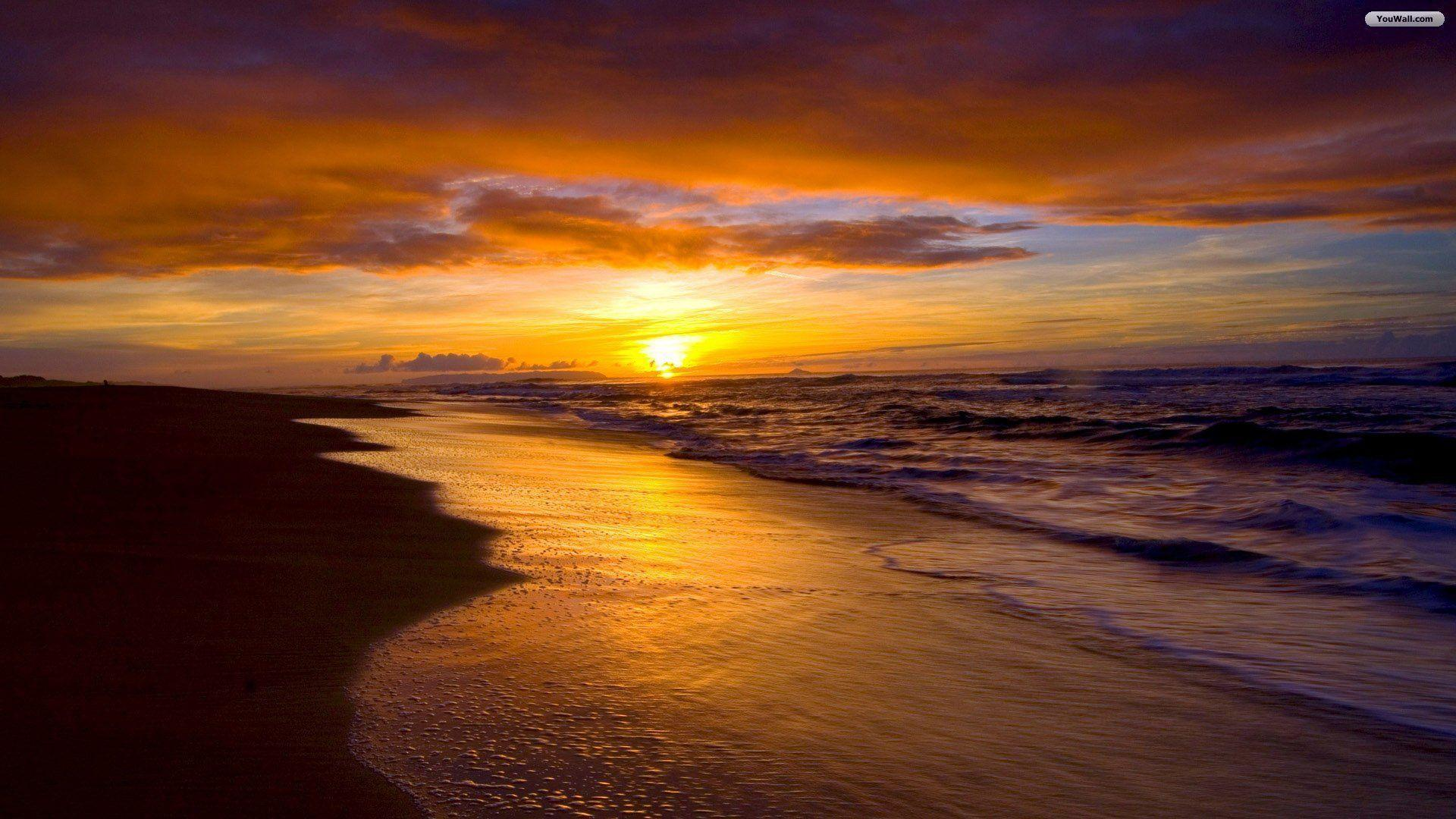 sunset beaches wallpapers - wallpaper cave