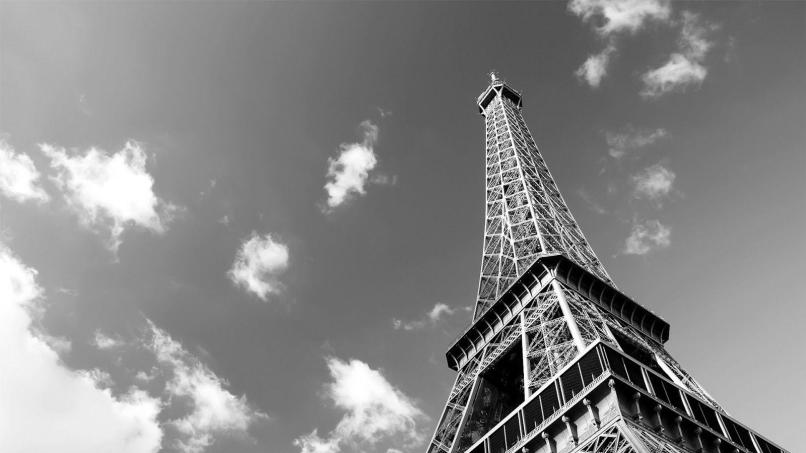 Eiffel Tower Black And White Wallpapers Wallpaper Cave