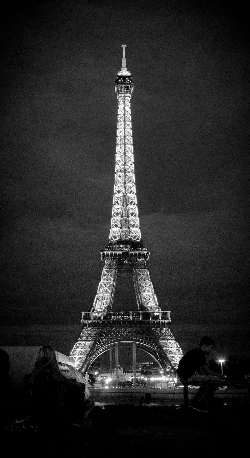 La And Black White Eiffel Torre