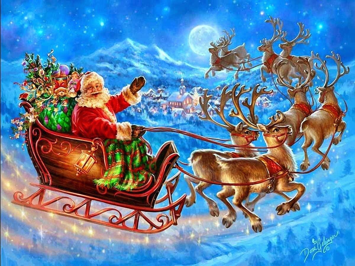 Christmas Reindeer And Sleigh Wallpapers