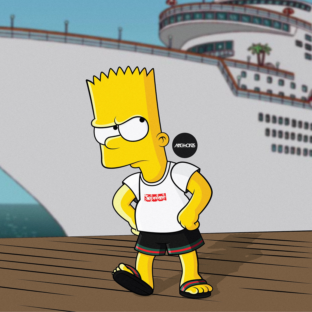Supreme Cool Simpson Wallpaper Download Free Iphone Wallpapers