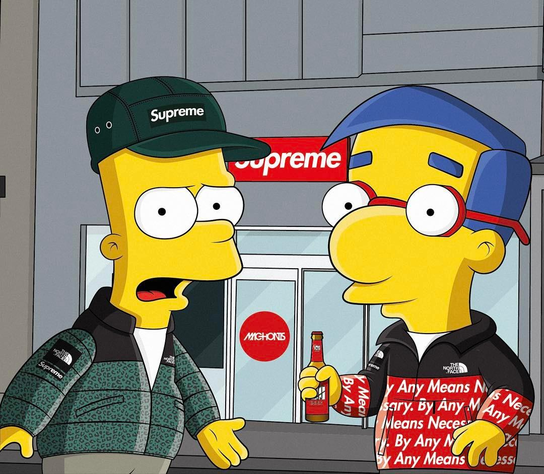 Cool Wallpaper Cool Supreme Bart Simpson Wallpapers