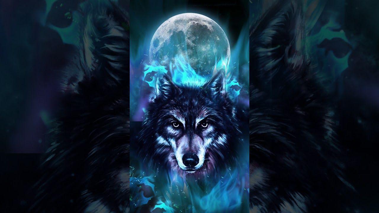 Blue Neon Galaxy Blue Neon Wolf ...