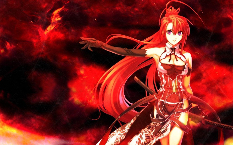 Anime Girl Red Hair Wallpaper - Novocom.top