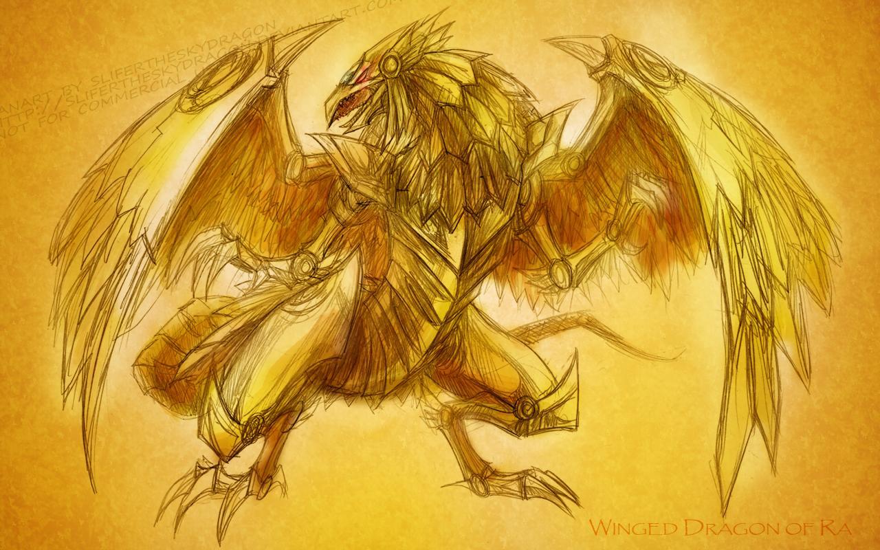 Ra Wallpaper Winged Dragon
