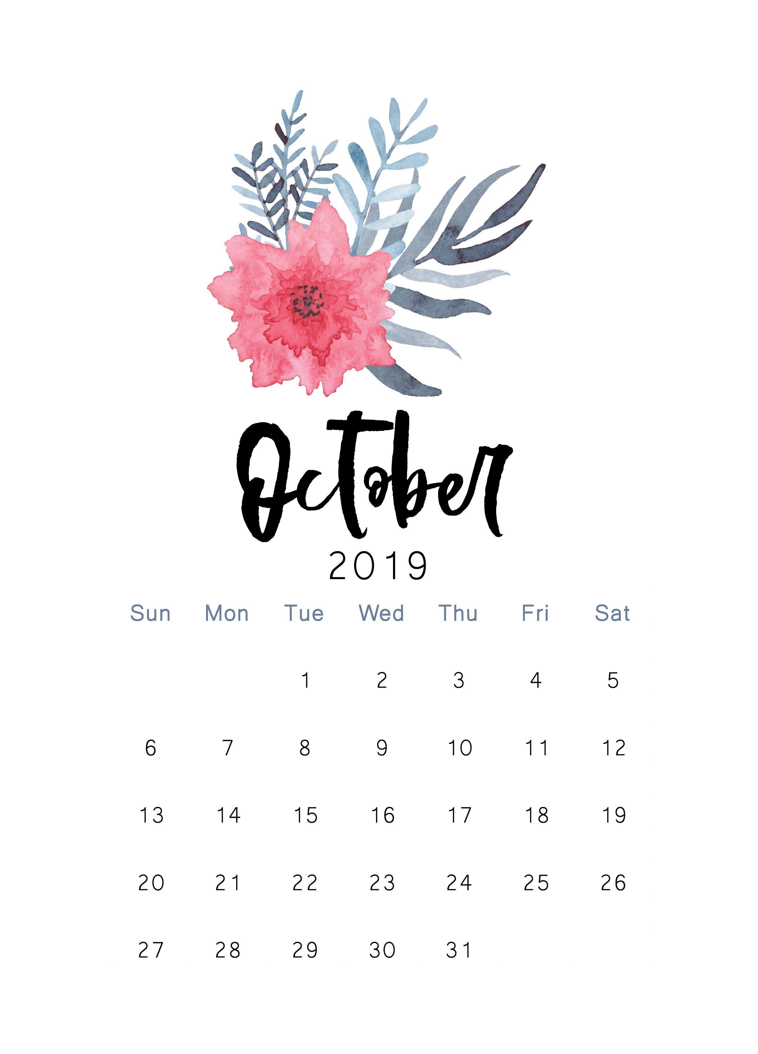 October Calendar Wallpapers