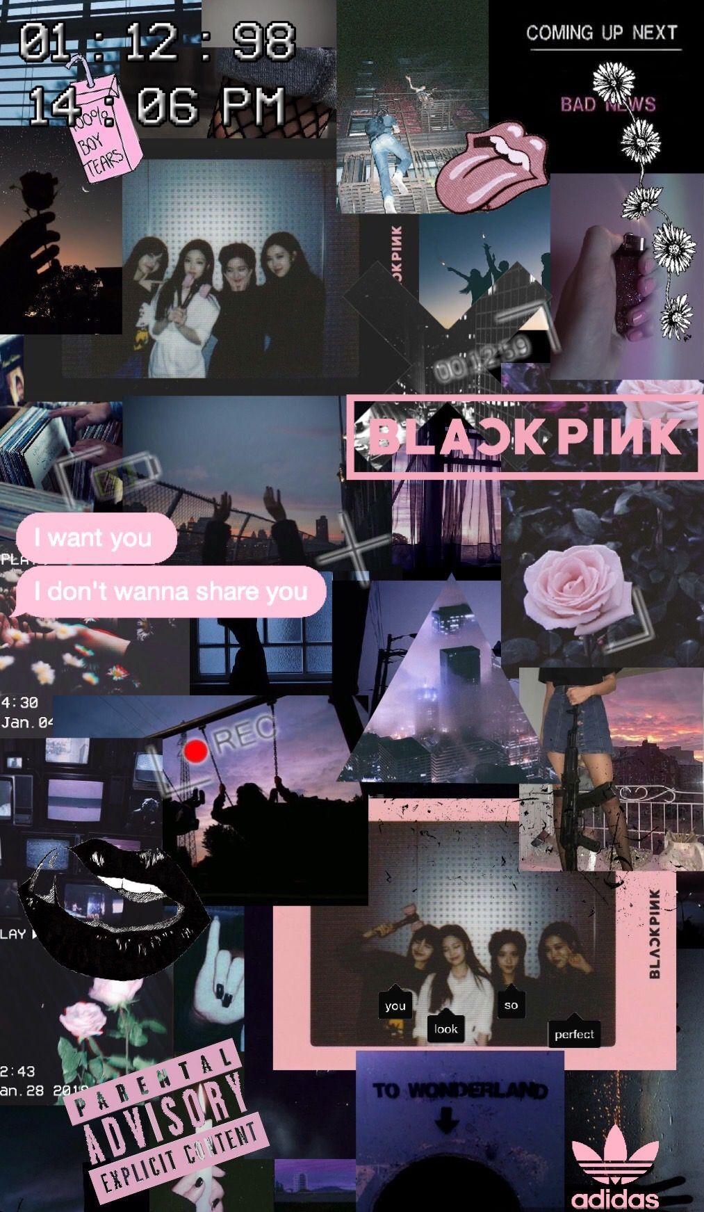 Collage Bts Black Aesthetic Wallpaper Novocom Top