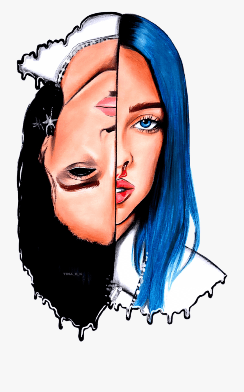 coloring pages billie eilish drawing easy cartoon