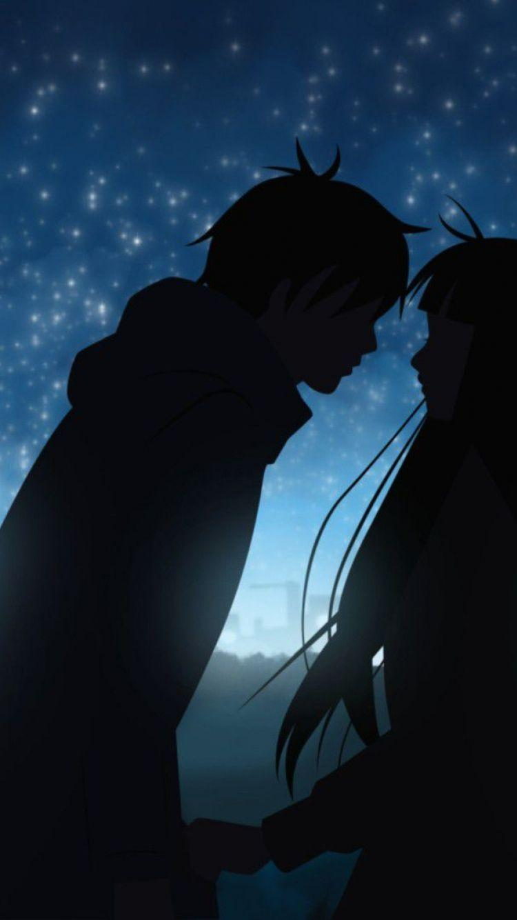 Anime Couple Art Hd Iphone Wallpapers Wallpaper Cave