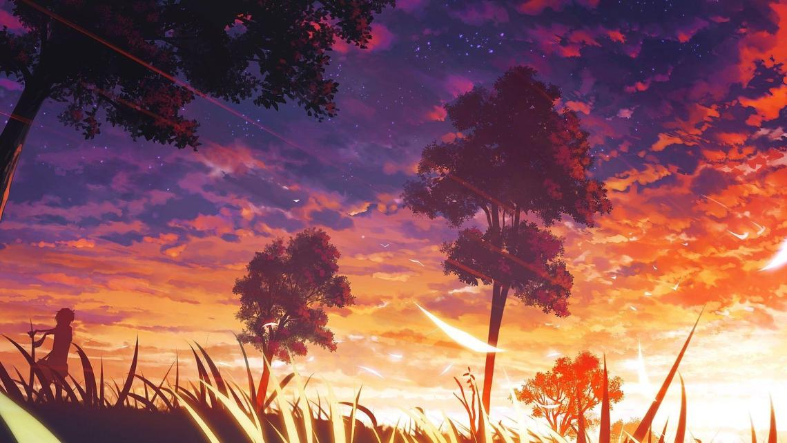 Aesthetic Sky Hd Anime Wallpapers Wallpaper Cave