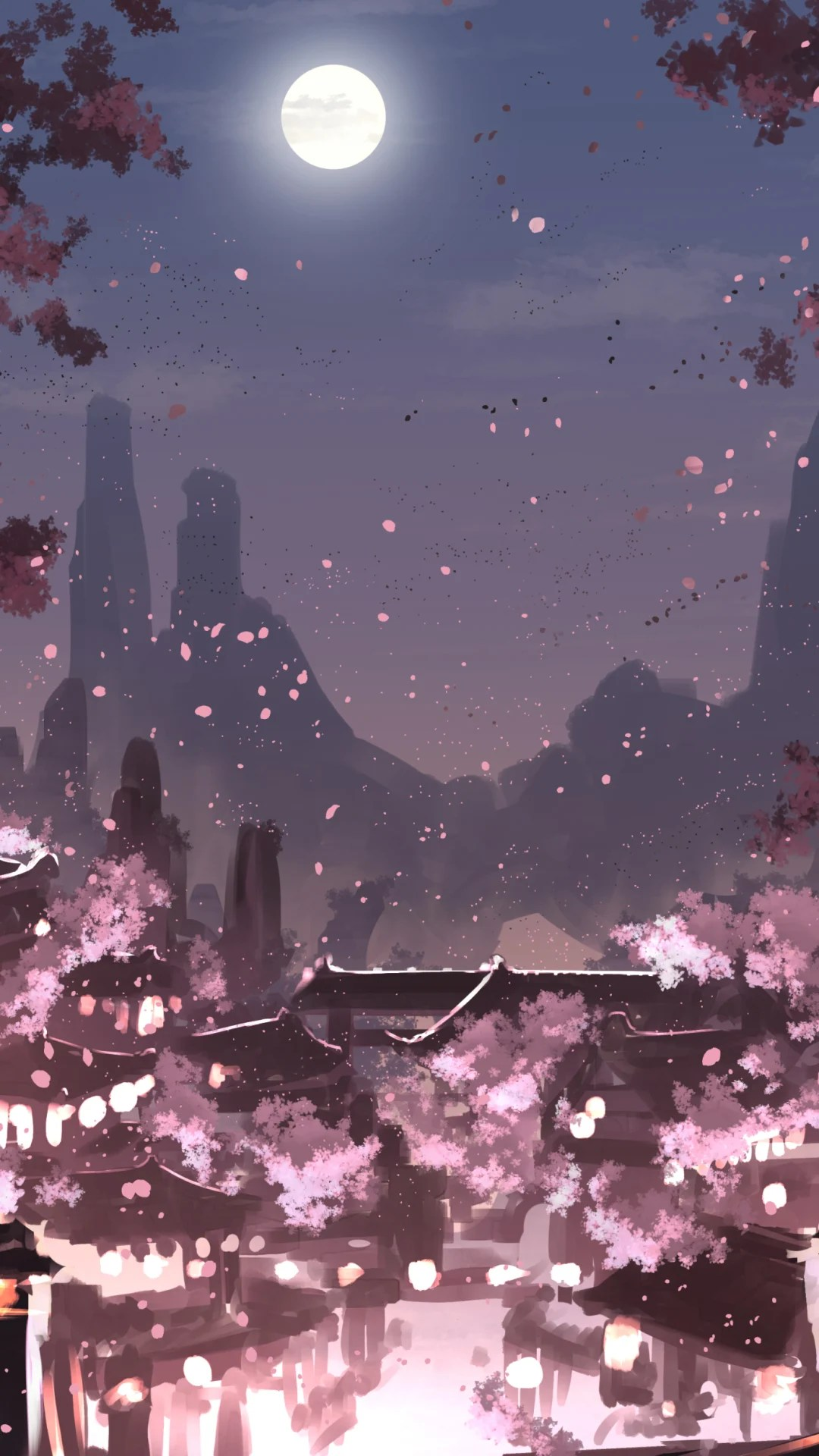 Cherry Anime Blossom Wallpapers Wallpaper Cave