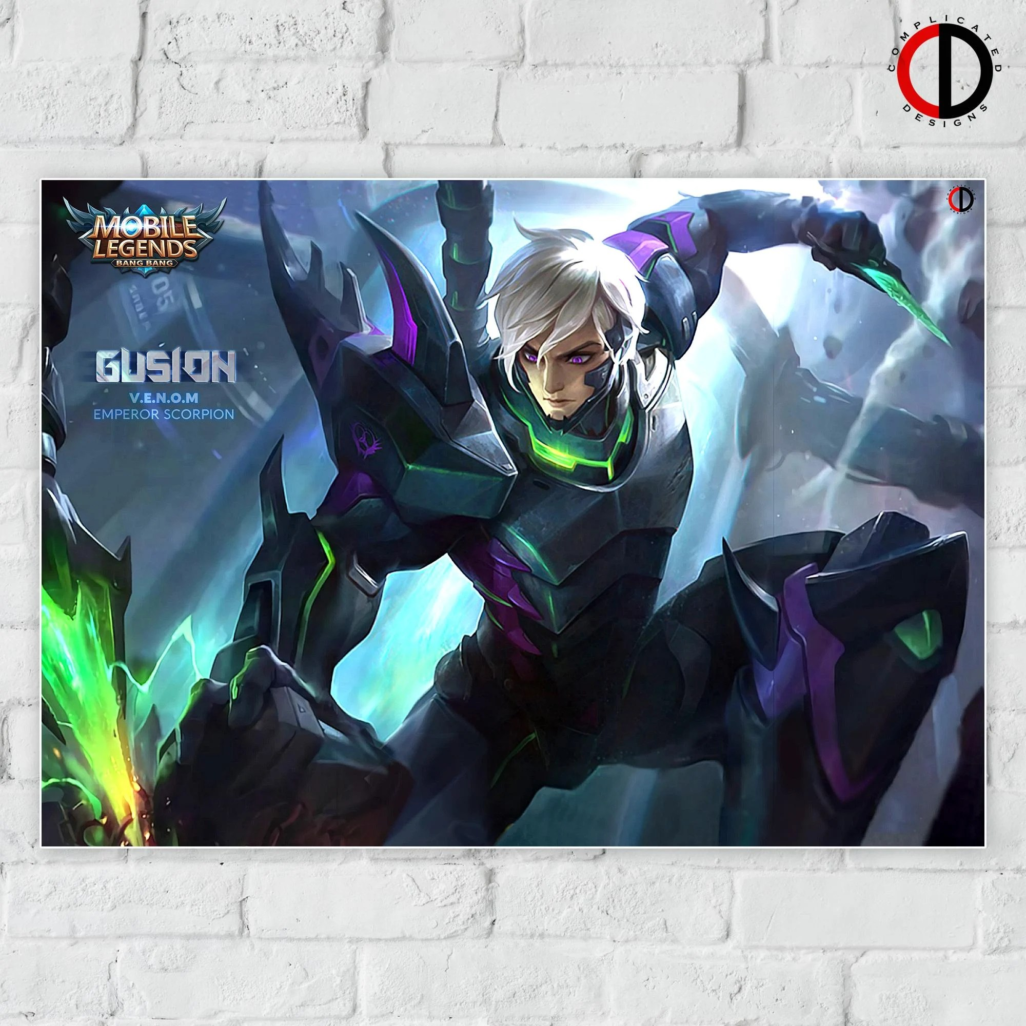 Mobile Legends Gusion Venom Wallpaper Hd Gusion K K O F Skin Vs V E N O M Emperor Scorpion Skin Mobile