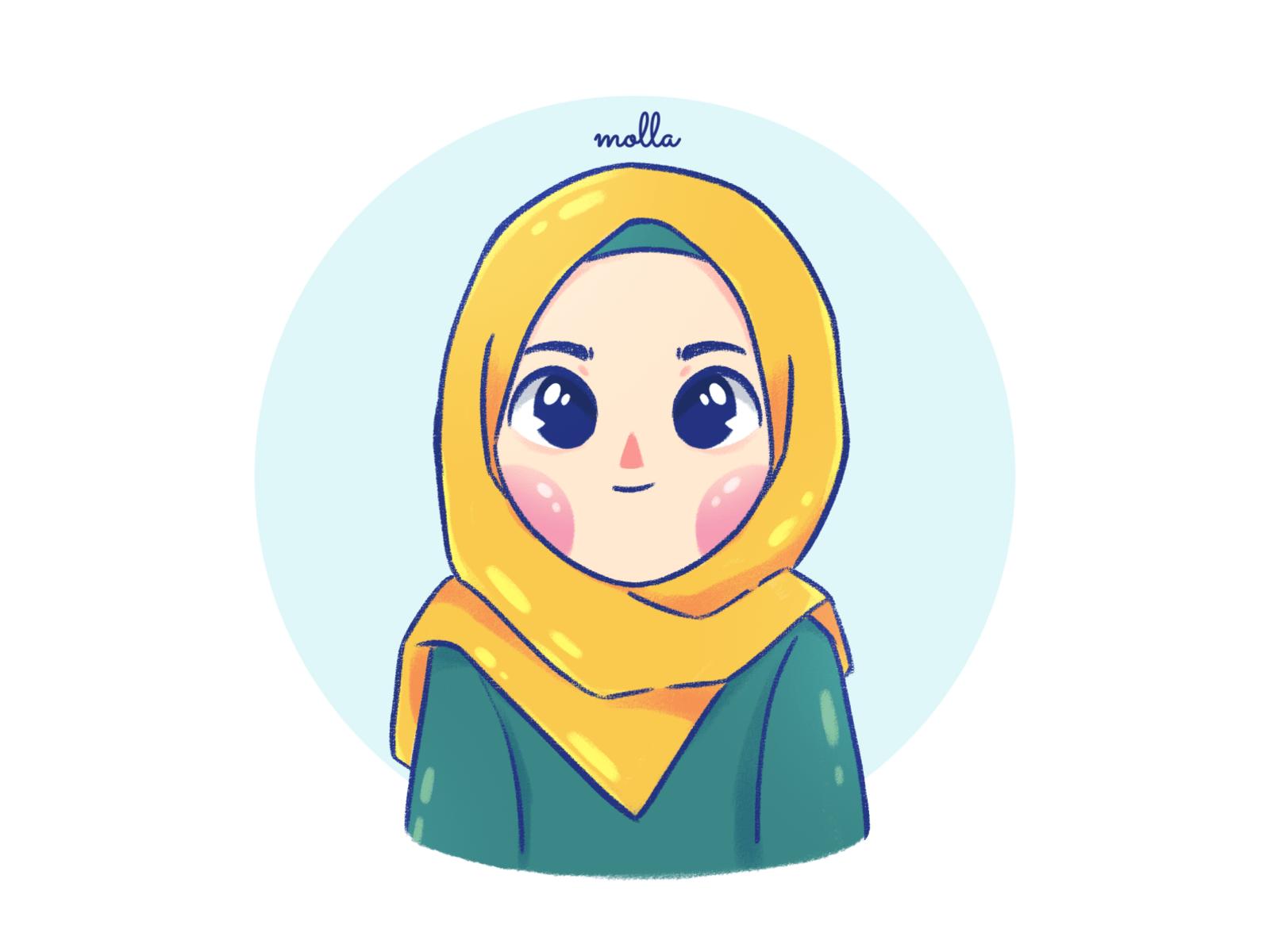 Cute Hijab Girl Vector Novocom Top