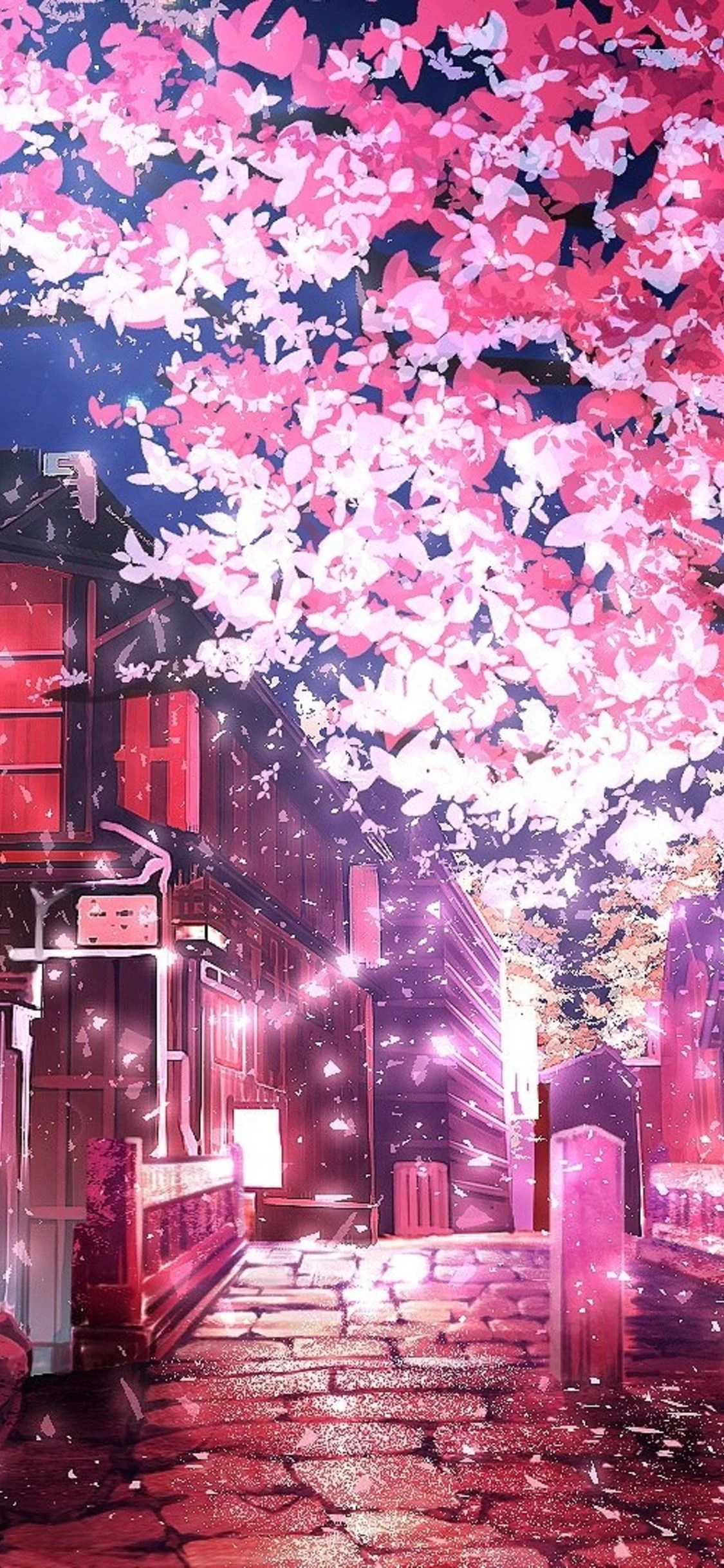 Cherry Blossom Tree Anime Wallpapers Wallpaper Cave