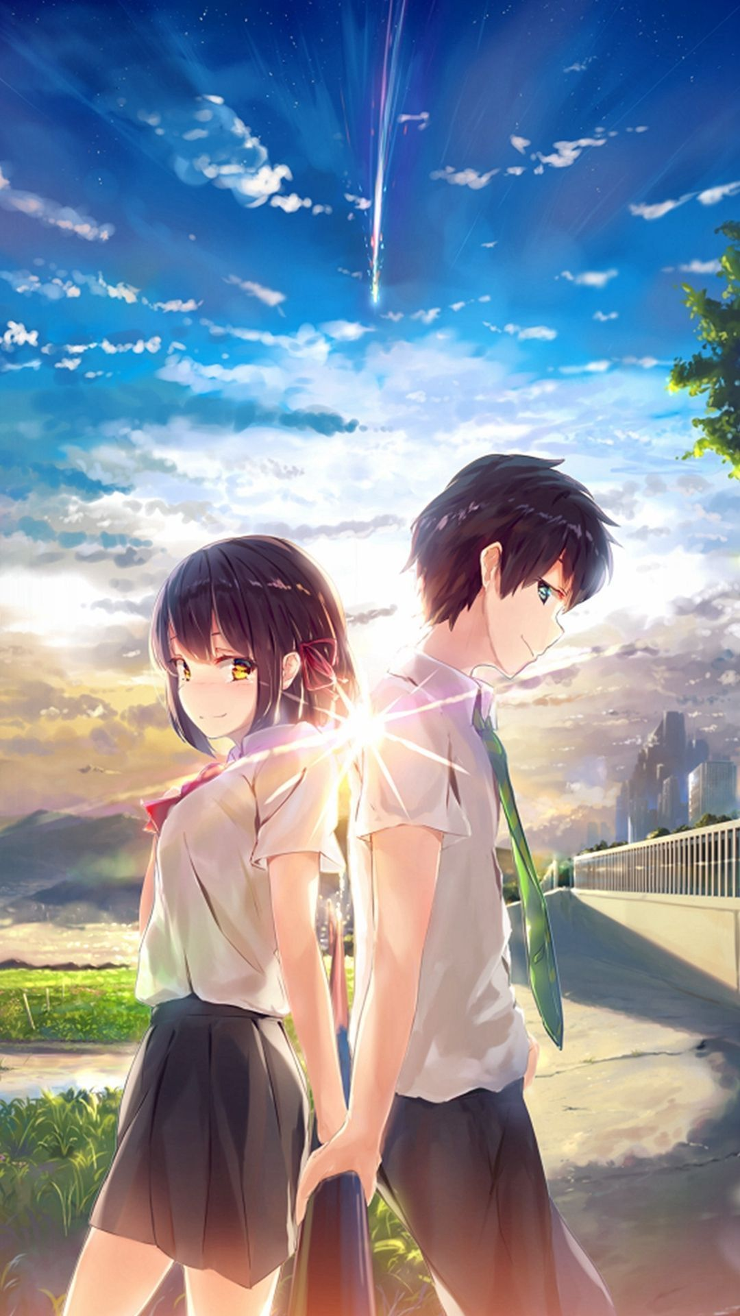 Anime Girl Cute With Boy Wallpapers Wallpaper Cave