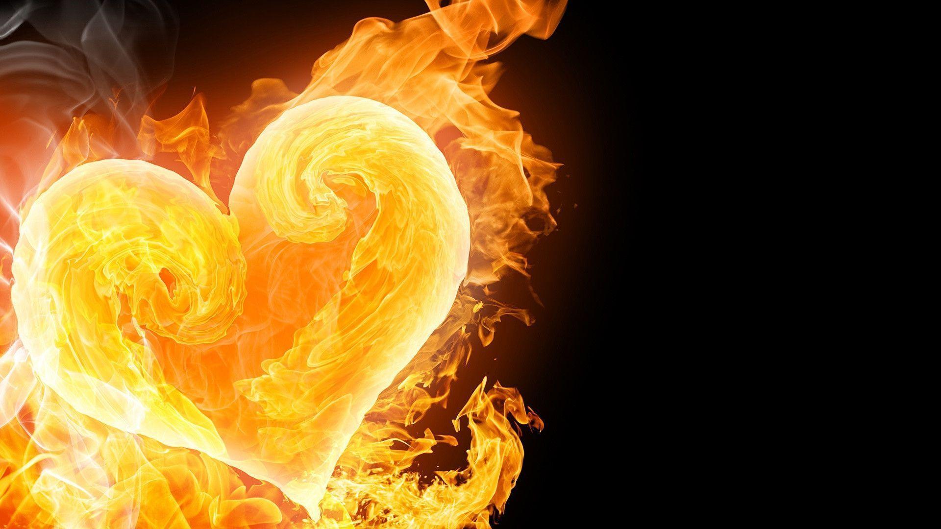 Cool Fire Hearts High Resolution Wallpaper Hd Resolution
