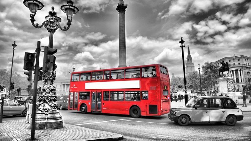 Black and White London HD Wallpaper - WallpaperFX