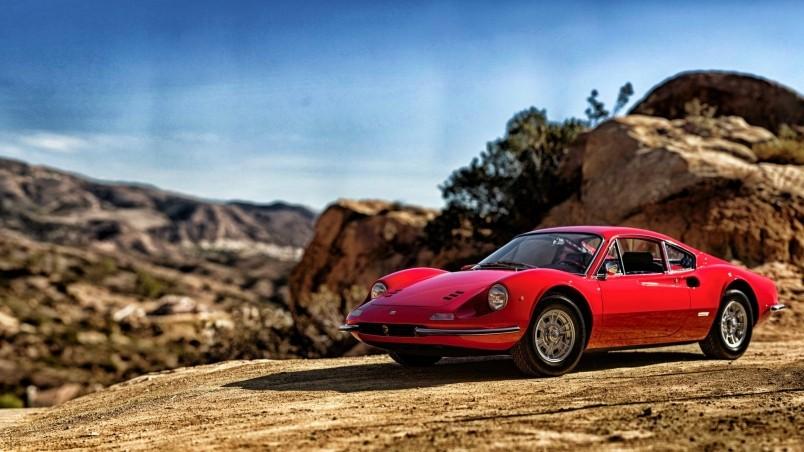 1969 Red Ferrari Dino 246 GT HD Wallpaper WallpaperFX