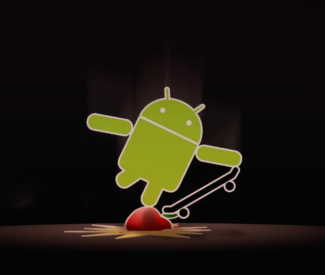 Apple With Android Skate Wallpaper