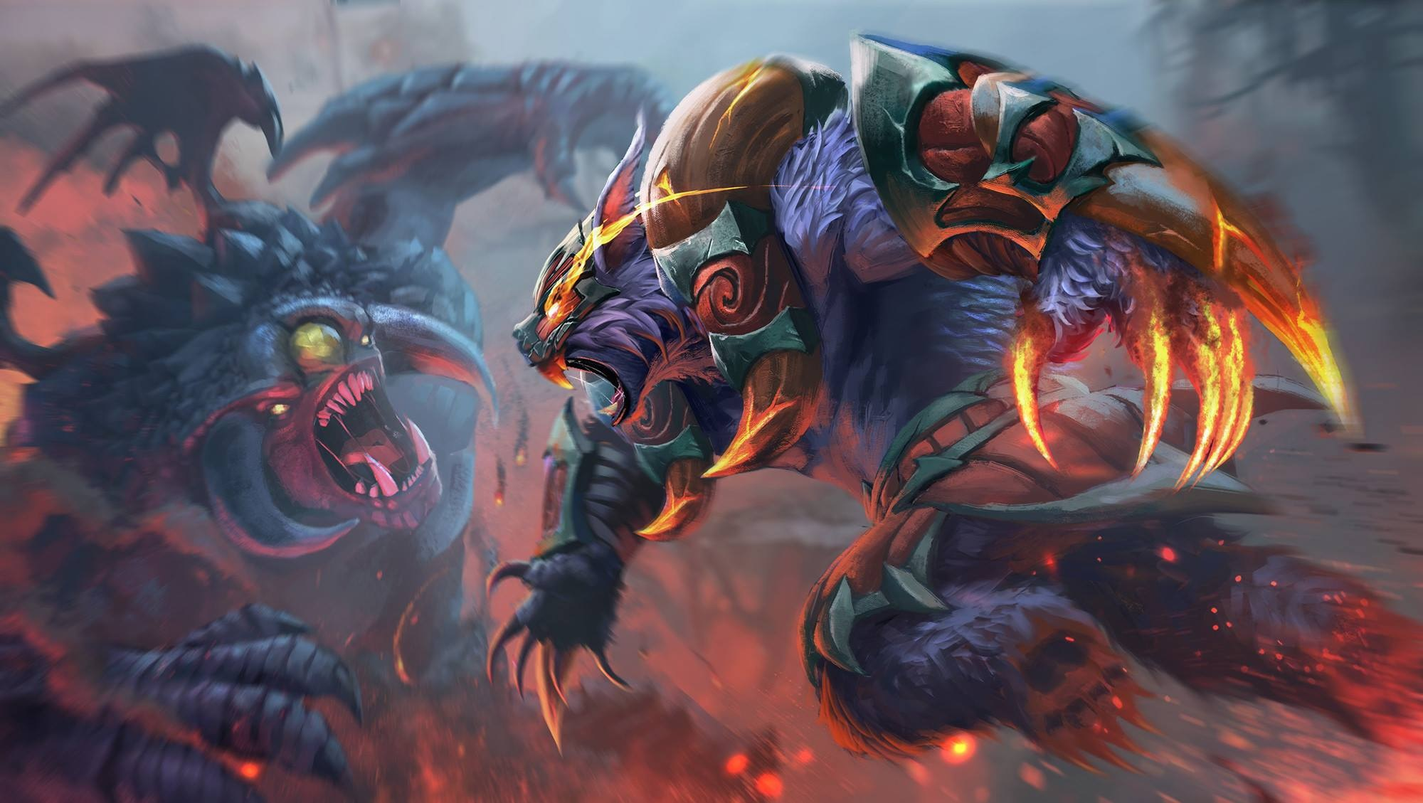 Ursa Vs Roshan Wallpaper Downloads Wallpapers Dota 2