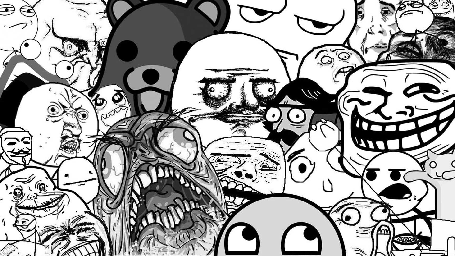 Mario Meme Luigi Wario Trollface Awesome Face Rageface 2560x1600