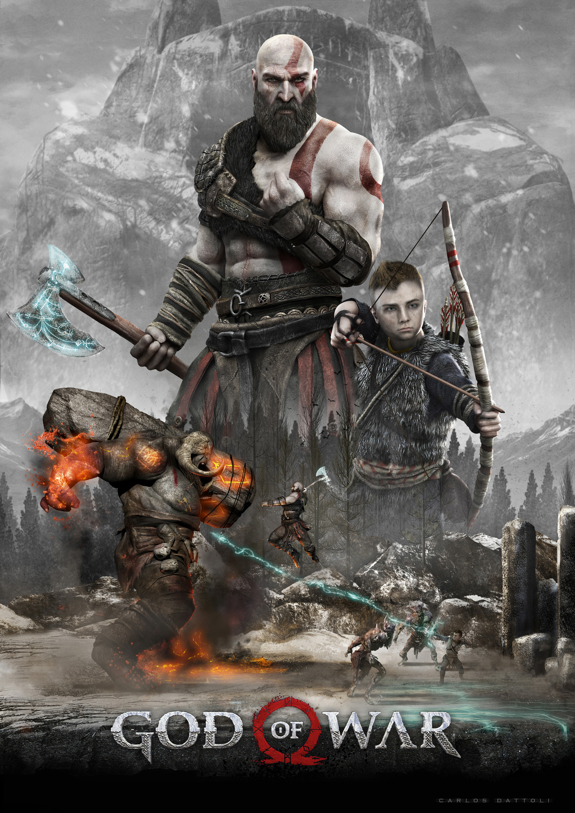 enchanted axe god of war 4 – wallpapers for tech