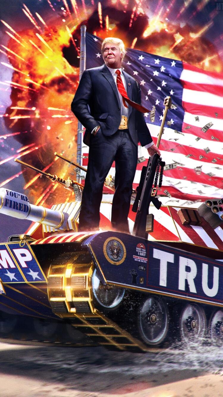 American Pride and Military of Donald Trump Wallpaper ...