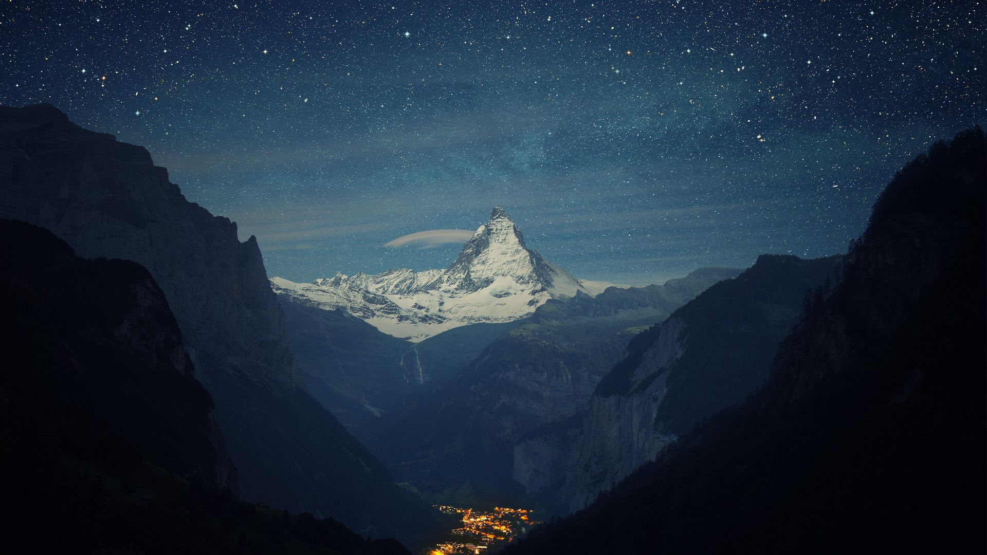 Wallpaper Switzerland 4k 5k Wallpaper Alps Mountains Stars Night Os 5713