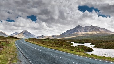 Wallpaper Isle of Skye, Scotland, Europe, road, mountain ...