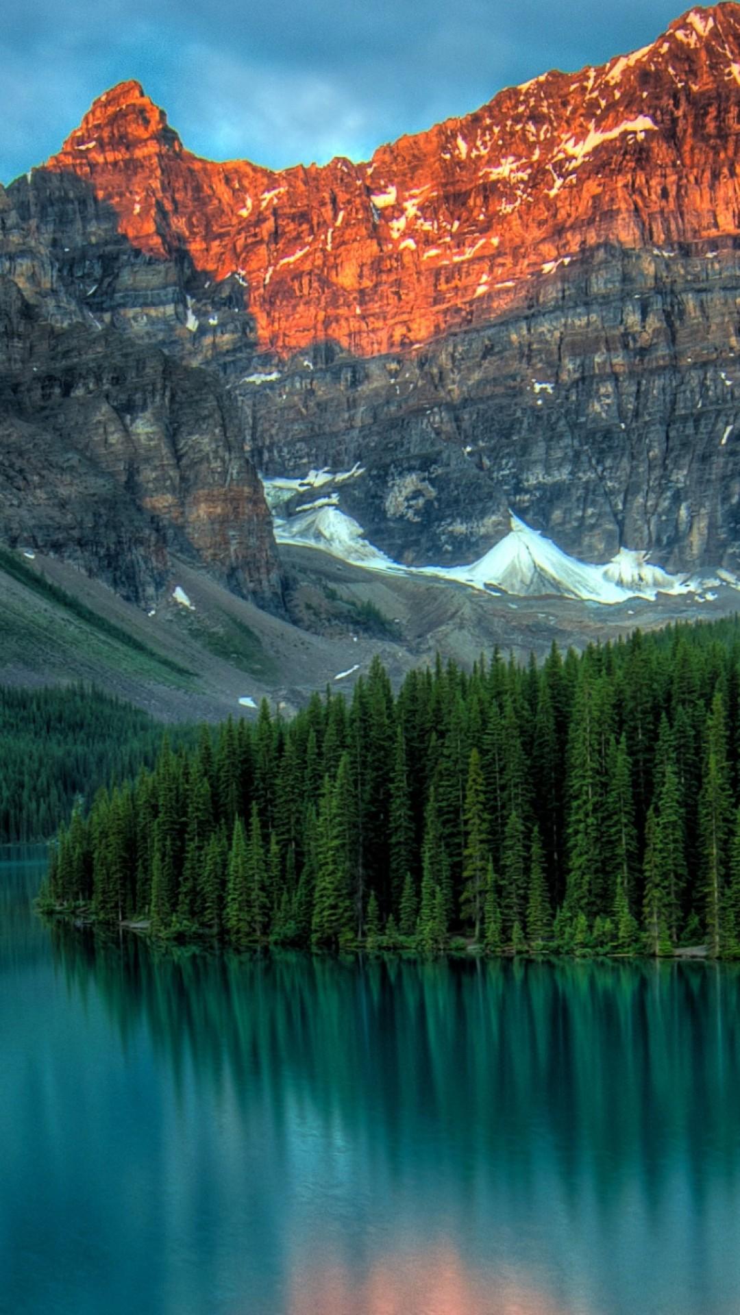 Sky Lake Night Mountain