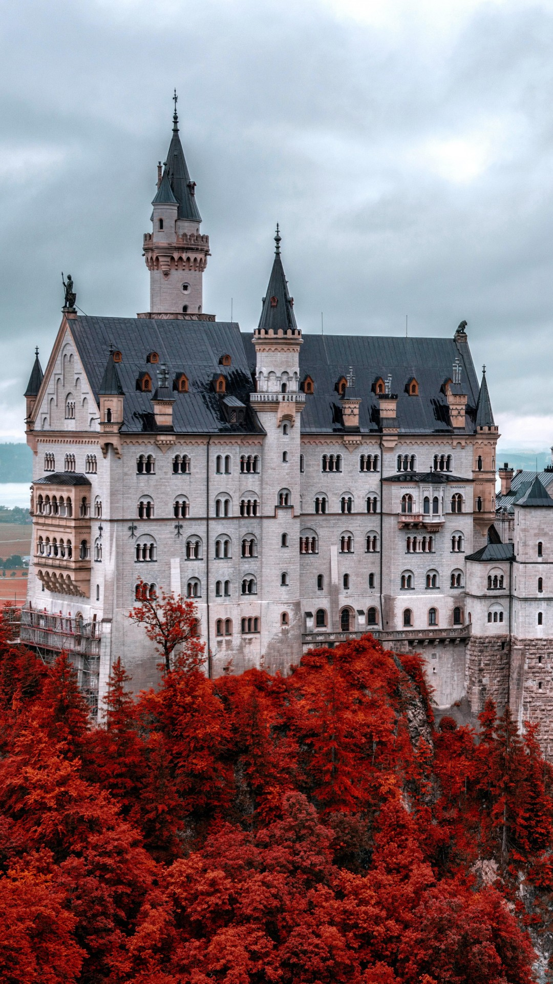 Wallpaper Neuschwanstein Castle Bavaria Germany Tourism