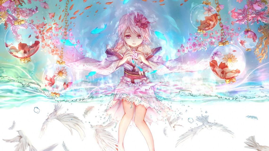 Download 1366x768 Wallpaper Cute Anime Girl Original Art Tablet Laptop 1366x768 Hd Image Background 572