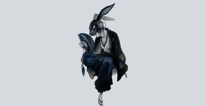 Desktop Wallpaper Mask Warrior Anime Boy Hd Image Picture Background 292a92