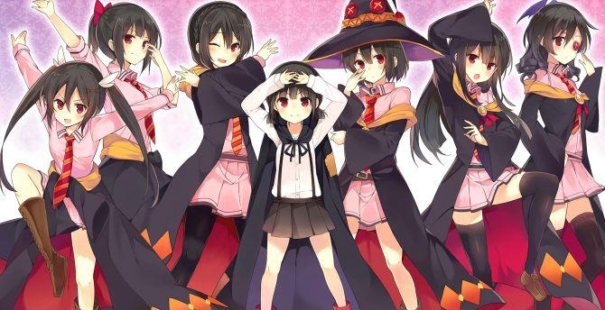 Desktop Wallpaper Anime Girls Kono Subarashii Sekai Ni Shukufuku Wo Witches Hd Image Picture Background Ba3b69