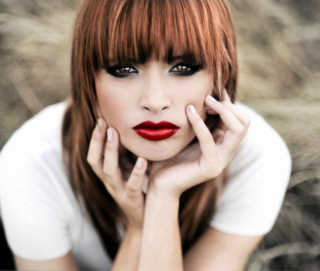 Image Beautiful Redhead With Hot Red Lips Wallpapers And Stock Photos